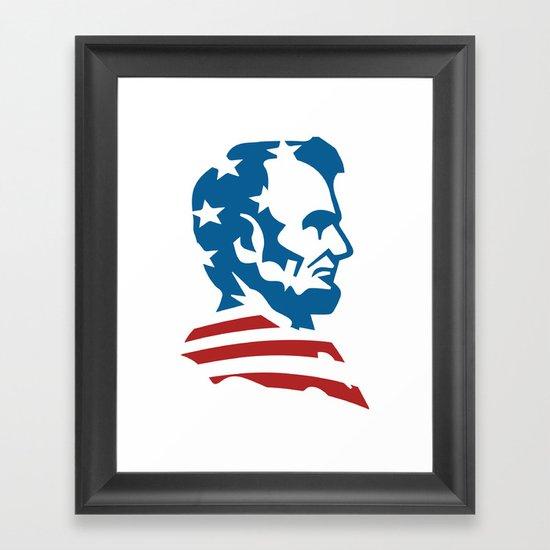 American Abe Framed Art Print