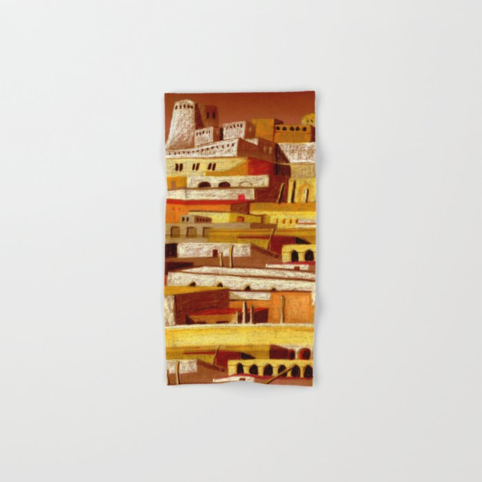 The fortress at sunset Hand & Bath Towel