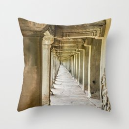 Angkor Wat Leading Lines, Cambodia Throw Pillow