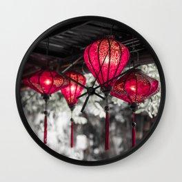 Lanterns of Hoi An IV Wall Clock