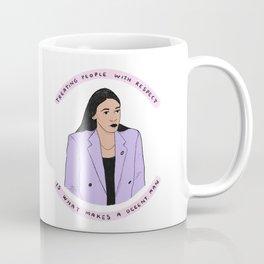 Alexandria Ocasio-Cortez Treating People With Respect Coffee Mug