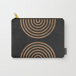 Perfect Equilibrium - Geometric Minimal - Black 2 Carry-All Pouch