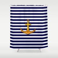 marine Shower Curtains featuring Marine by Elena Indolfi