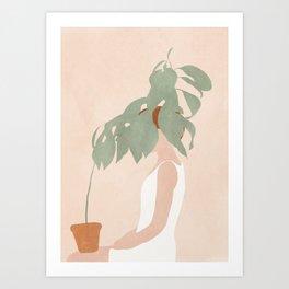 Lost in Leaves Art Print