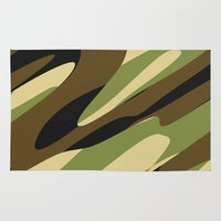camo Area & Throw Rugs featuring Camo by SShaw Photographic