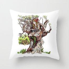 Taking a Botany Lesson Throw Pillow