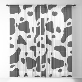 Cow Hide Sheer Curtain