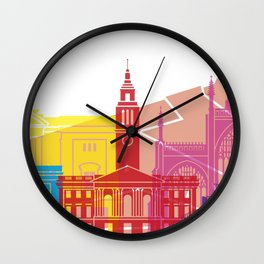 Kingston Upon Hull skyline pop Wall Clock