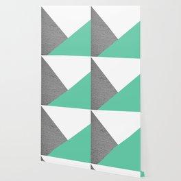 Concrete vs Aquamarine Geometry Wallpaper