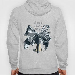 Fashion illustration with high heel shoe and bow. I am limited edition Hoody