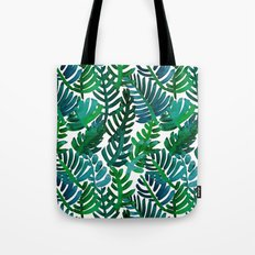Round Palm Blue Green Tote Bag