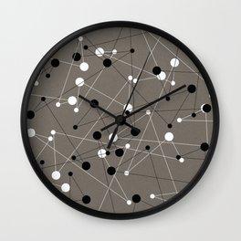 Molecular Pattern Wall Clock