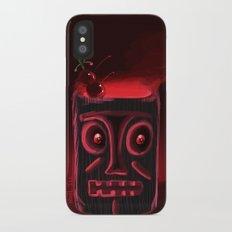 Tiki Black iPhone X Slim Case