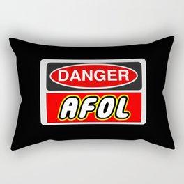 Danger AFOL Adult Fan of LEGO by Chillee Wilson Rectangular Pillow