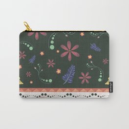 Otavalo print green Carry-All Pouch