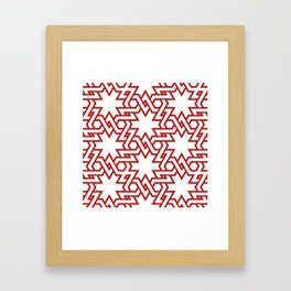 Red and white pattern Framed Art Print