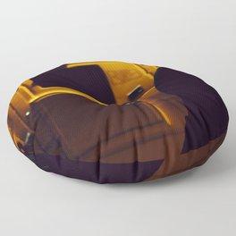Yellow van Australian man Floor Pillow