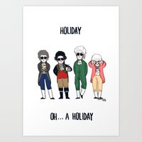 vampire weekend Art Prints featuring Vampire Weekend Holiday by Knifeson