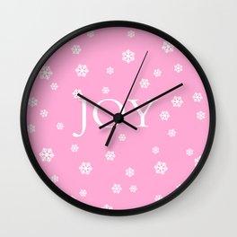 Winter Joy - pink - more colors Wall Clock