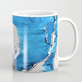 Enticing Interlude. Illustrated for Author Michelle Mankin. Girl Sunset Blue Blonde Sky Coffee Mug