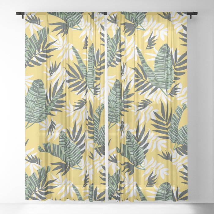 Hot tropical summer Sheer Curtain