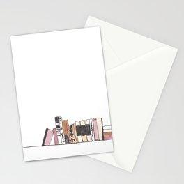 Bookshelf in Blush Stationery Cards