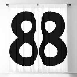 Number 8 (Black & White) Blackout Curtain