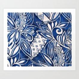 Hawaiian tribal pattern II Art Print