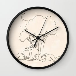 Sisters of the Moon Wall Clock