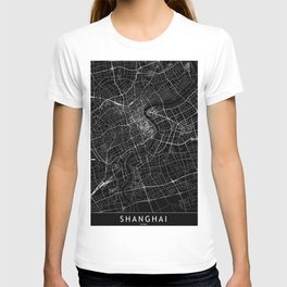 Shanghai Black Map T-shirt
