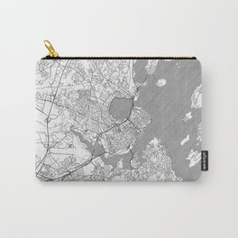 Portland Maine Map Line Carry-All Pouch