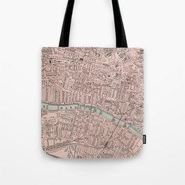 Vintage Map of Glasgow Scotland (1901) Tote Bag