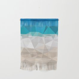 Low poly beach Wall Hanging