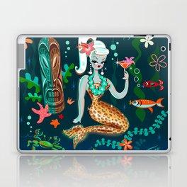 Blonde Leopard Martini Mermaid Laptop & iPad Skin