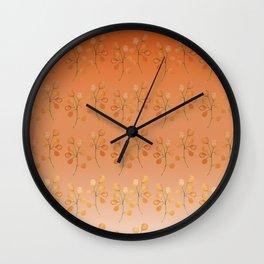 """Cactus flowers in soft orange"" Wall Clock"