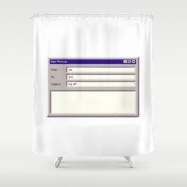 Log Off Shower Curtain