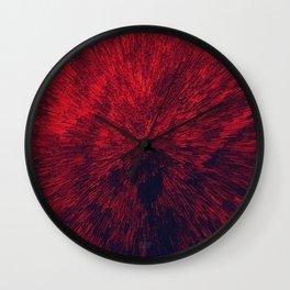 Bold Burst in Brilliant Red Wall Clock