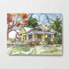 The Autumn House Metal Print