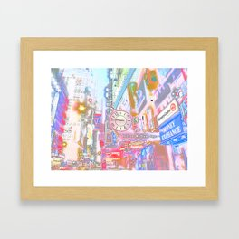 40th & 8th - Midtown, NYC ( Glossy ) Framed Art Print
