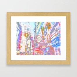 40th & 8th - Midtown, NYC ( Glossy ) Framed Art Print