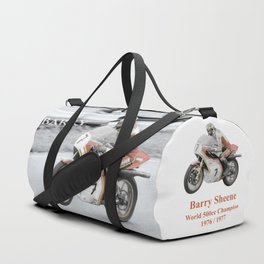 Barry Sheene 2, the hand tinted version Duffle Bag