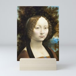 Leonardo da Vinci, Portrait of Ginevra Benci, 1474 Mini Art Print