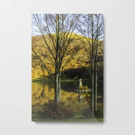 TWO TREES AT LAGO CALAMONE Metal Print