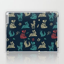 Cute Whimsical Forest Animals Pattern Laptop & iPad Skin