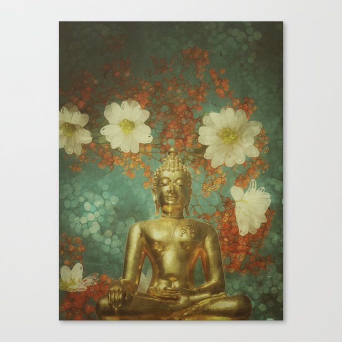 Retro Buddha Canvas Print