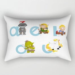 Medieval Vowels Rectangular Pillow