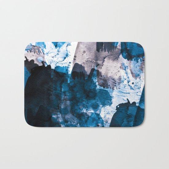 blue & mauve Bath Mat