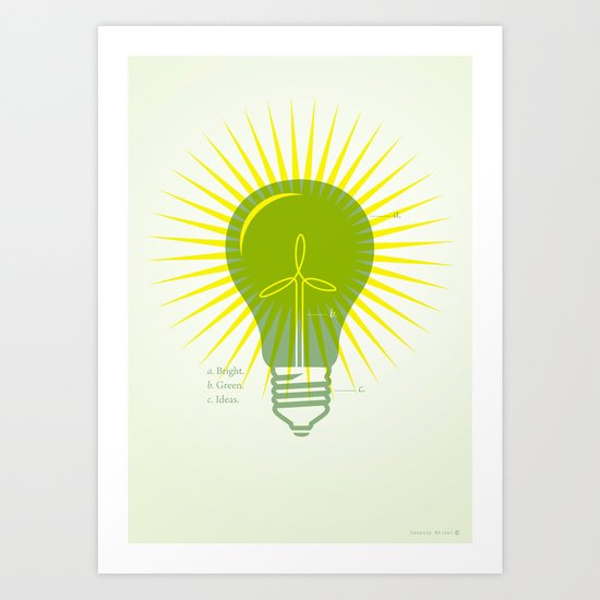 Bright Green Ideas Art Print