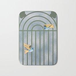 Mechanical birds Bath Mat