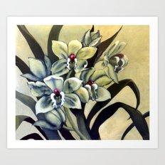 Green Orchids Art Print